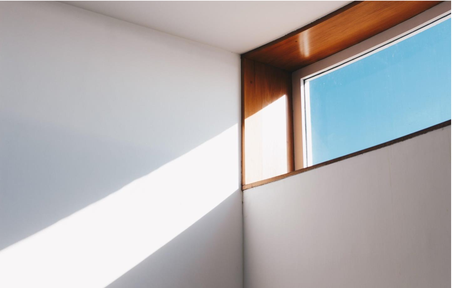 Picture of Blue sky and light coming through window