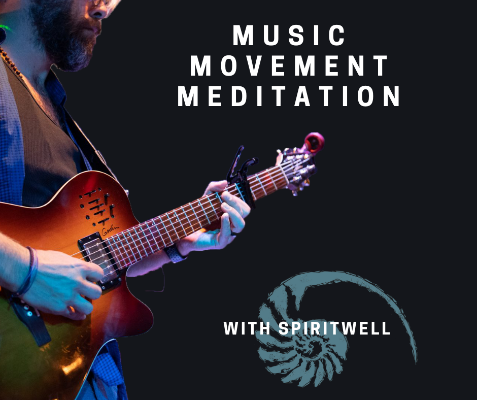 Photo of Austin play guitar with Spritiwell symbol