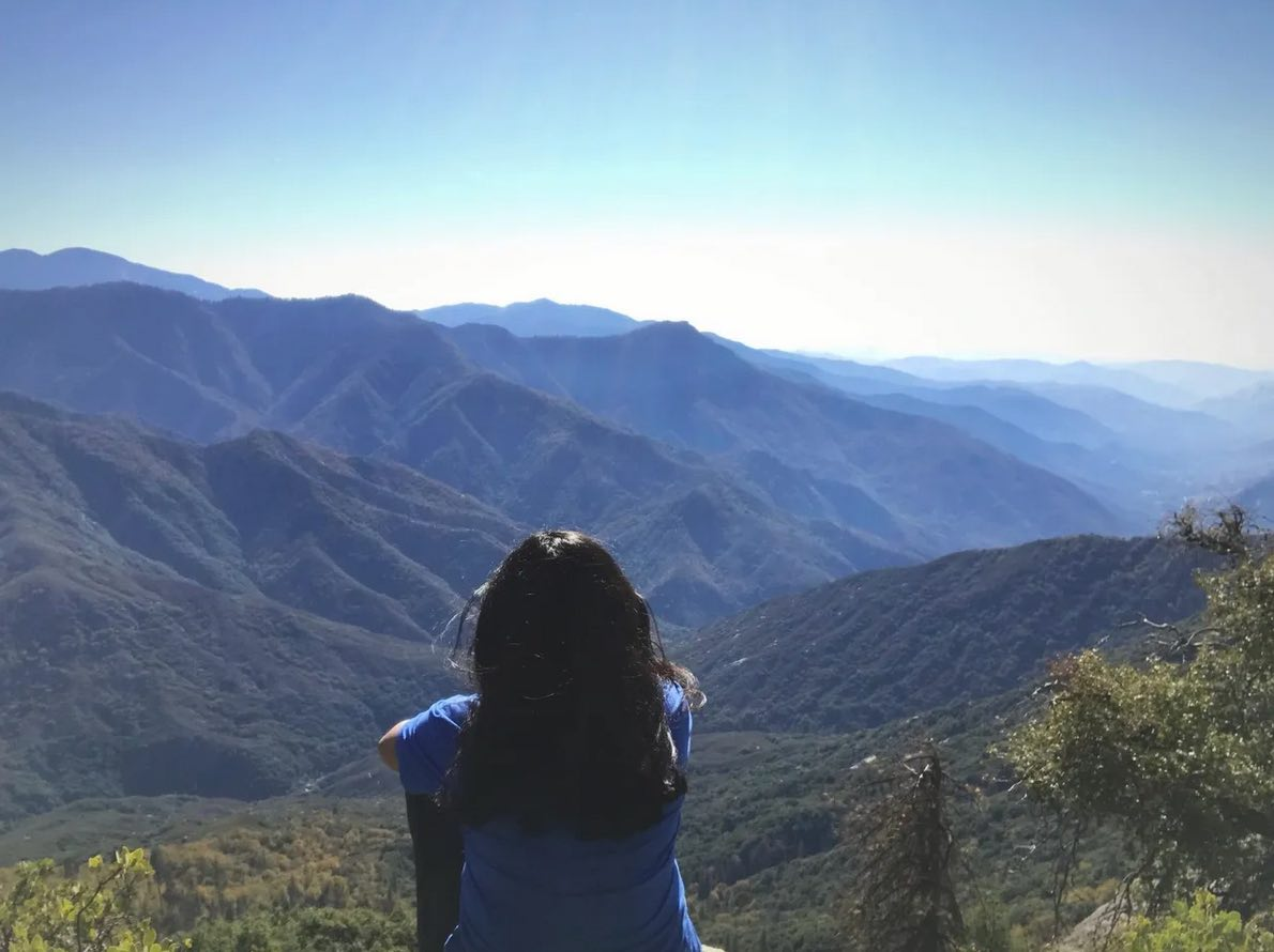 Photo of Deepa in the mountains